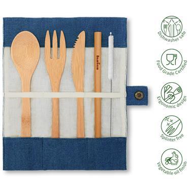 Bambaw Cutlery Set Ocean