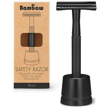 Bambaw Metal Razor Black With Stand
