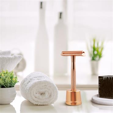 Bambaw Metal Razor Rose Gold With Stand