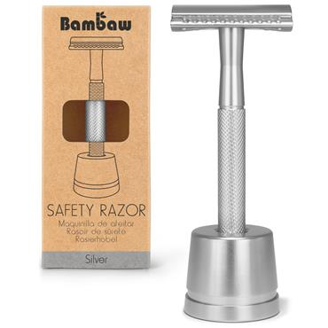 Bambaw Metal Razor Silver With Stand