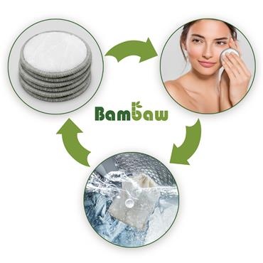 Bambaw Pack Of 8 Reusable Velvet Make-Up Pads