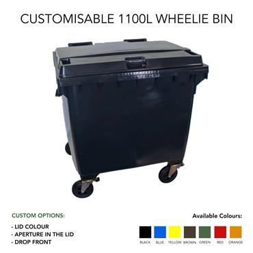 Customized 1100 Litre Wheelie Bin