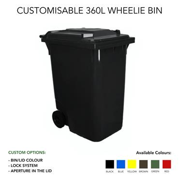 Customized 360 Litre Wheelie Bin