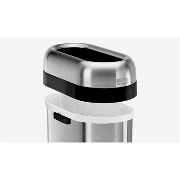simplehuman 50 litre slim open can