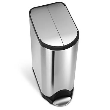 Simple Human 30 litre Butterfly Bin - Brushed Steel