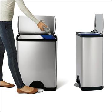 Simple Human Deluxe Rectangular Recycler Bin - 46L