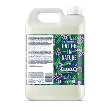 Faith In Nature Body Wash - Tea Tree (5 Litre)