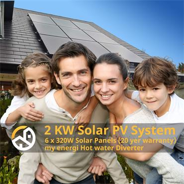 Eco Horizon Solar 2kW Solar PV System with Hot water Diverter Kit