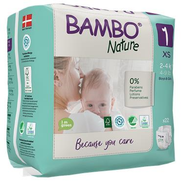 Bambo Nature Nappies Newborn 22 Nappies