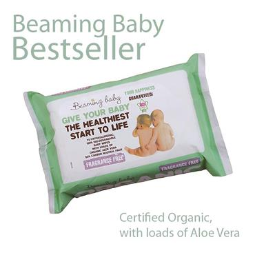 Beaming Baby Organic Skincare Baby Wipes FRAGRANCE FREE