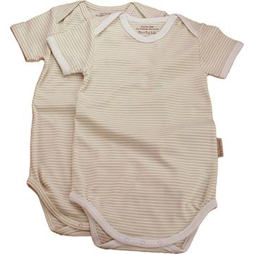 Organic Cotton Short-Sleeved Envelope Neck Bodysuit Chemical Free Twin pack