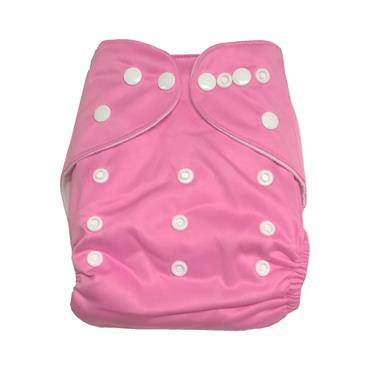 Washable Birth to Potty Cloth Nappy Popper Fastening (4 colours Available)