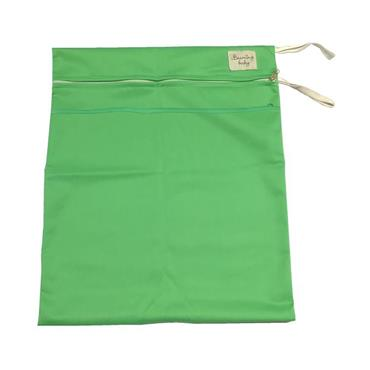 Beaming Baby Washable Wet Bag Double Zip, Green