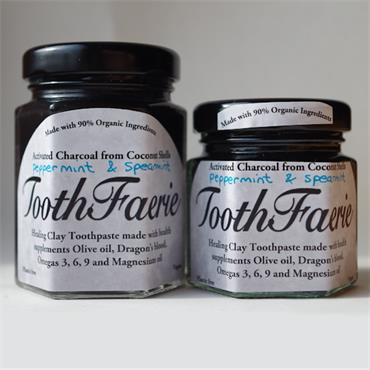 Toothfaerie Fine Activated Charcoal from Coconut Shells with Peppermint & Spearmint 55ml
