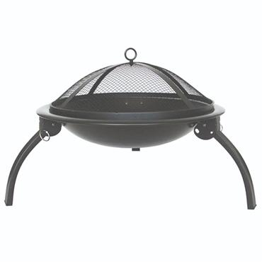 Outdoor Living Foldable Fire Pit - Black
