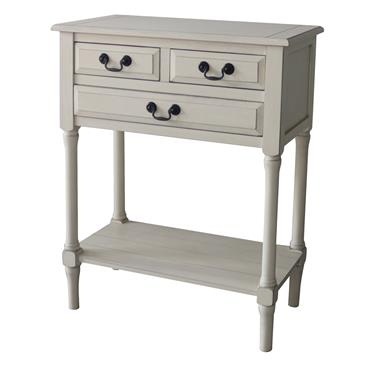 Home Inspirations Antique Cream Three Drawer Console Table