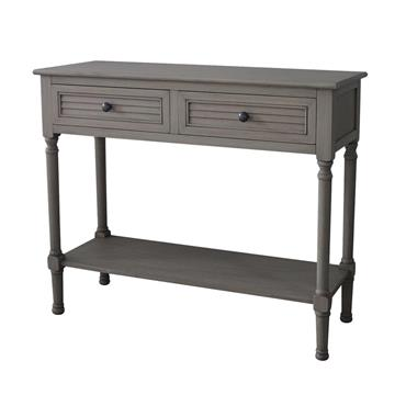 Home Inspirations Savannah Grey Two Drawer Console Table