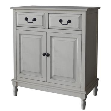 Home Inspirations Antique Cream Two Drawer Two Door Cabinet
