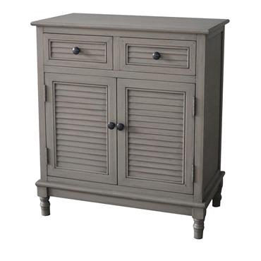 Home Inspirations Savannah Grey Two Drawer Two Door Cabinet