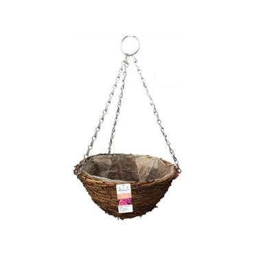 Blossom Rustic Hanging Basket Natural 12""