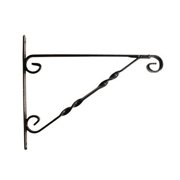"Blossom Hanging Basket Bracket 12"" Black"