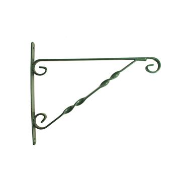 Blossom Hanging Basket Bracket Green 12""