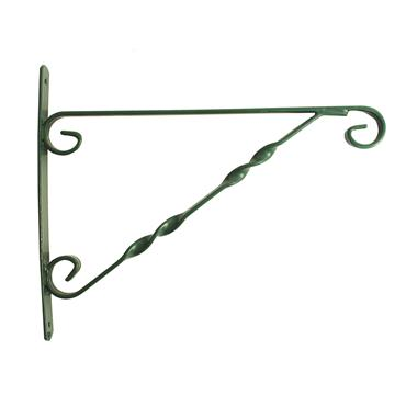 Blossom Hanging Basket Bracket Green 14""