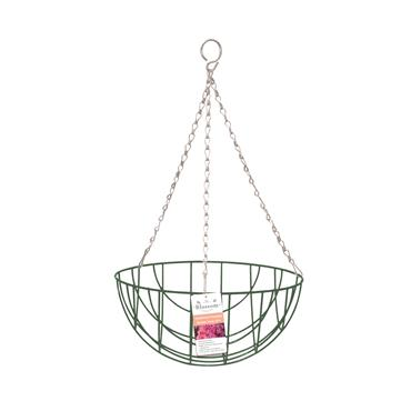 "Blossom Traditional Hanging Basket 12"" Green"