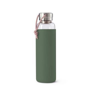 Black+Blum Glass Water Bottle - OLIVE (600ml)