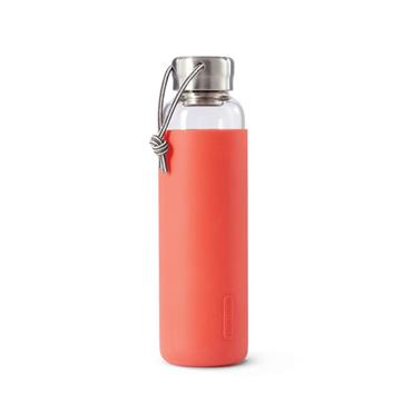 Black+Blum Glass Water Bottle - CORAL (600ml)