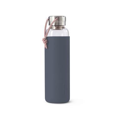 Black+Blum Glass Water Bottle - SLATE (600ml)