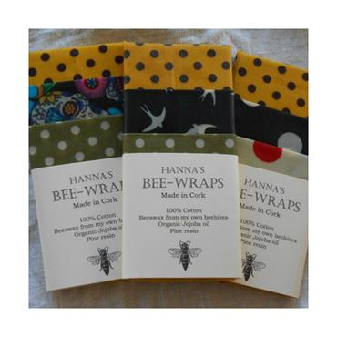 Hanna's Beeswax Products Hanna's Bee-Wraps (Small Kitchen Pack)