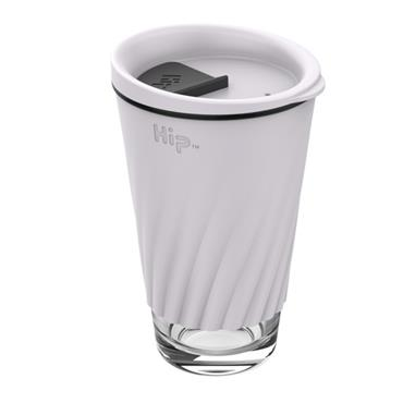 Hip Glass Cup - CLOUD & MIDNIGHT (12 oz)