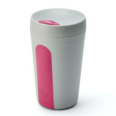 Hip Travel Cup - STONE & HOT PINK (12 oz)