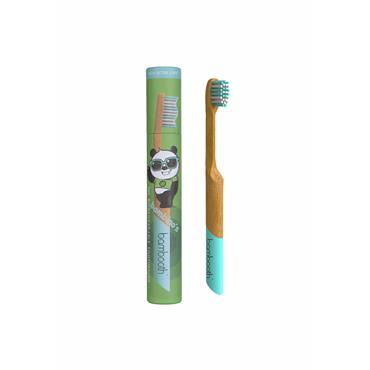 Bambooth Kids Bamboo Toothbrush - Aqua Marine Bambino