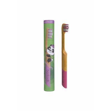 Kids Bamboo Toothbrush - Coral Pink Bambino