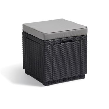 Keter Cube Cool Grey with Cushion