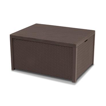 Keter Arica Storage Table Brown