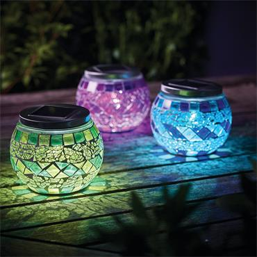 Solar Mosaic Table Light
