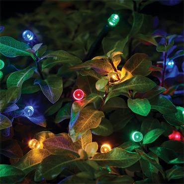 50 Solar LED String Lights - Multi-coloured