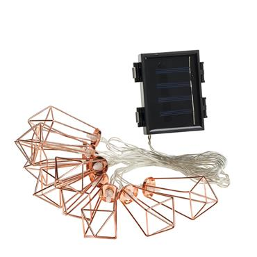 10 Solar Diamond Copper String Lights
