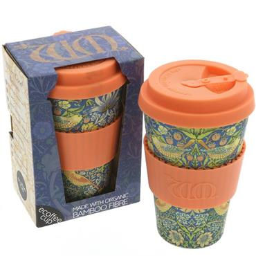 Ecoffee Cup Reusable Bamboo Coffee Cup - Thief Design (400ml)