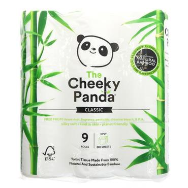 The Cheeky Panda Natural Bamboo Toilet Tissue (9 Rolls)