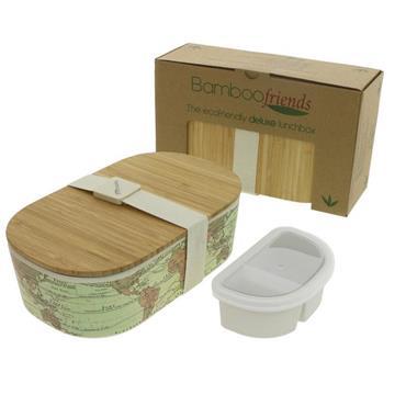 Bamboo Lunchbox Bamboo Lunchbox - World Map (900ml)