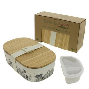 Bamboo Lunchbox Bamboo Lunchbox - Flowers (900ml)