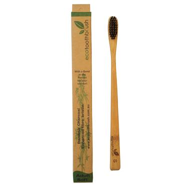 Charcoal Enhanced Ecotoothbrush - ADULT SOFT