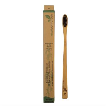 Charcoal Enhanced Ecotoothbrush - ADULT MEDIUM
