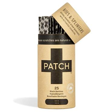Patch Organic Bamboo Plasters - with Activated Charcoal (25 pack)
