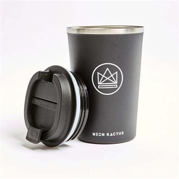 Neon Kactus Travel Mug - Rock Star - Black - 380ml