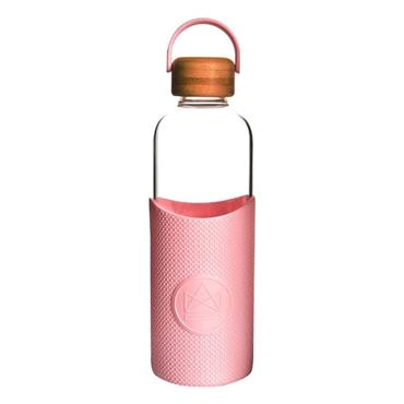 Neon Kactus Glass Water Bottle - Flamingo - 1000ml